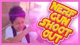 Nerf Gun Shoot Out - Kids Style