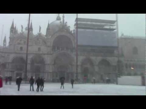 Neve Piazza San Marco Venezia Snowing Piazza San Marco 雪のサ