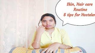 Easy skin, hair care routine & Tips for Hostelers in Telugu/ Monica pavan kumar