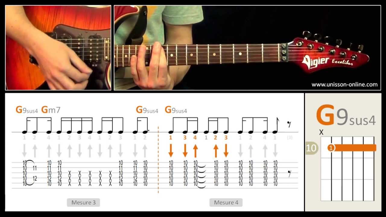 how to play long train running on guitar