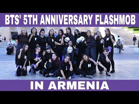 BTS' 5th Anniversary Flashmob in Armenia (아르메니아🇦🇲)