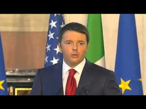 Barack Obama Matteo Renzi Video Conferenza Stampa