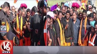 Ayyappa Swamula Maha Padayatra Reaches Bagepalli X Road | Secunderabad To Sabarimala