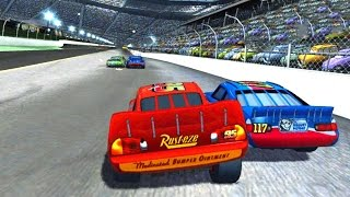 Cars 1 the Videogame 360 - No Com #25 - Lightning Mcqueen VS MOTOR SPEEDWAY (Piston Cup Rookie)