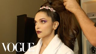 Deepika Padukone Gets Ready for the Met Gala | Vogue