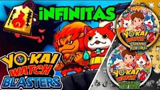 Como funciona el modo BLASTERS + Etiqueta oro INFINITAS I Yo-kai Watch 2:Fantasqueletos y Carnánimas