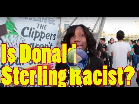 Community Activists protest against Clippers owner Donald Sterling at Staples Center