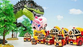 로보카폴리! 엠버가 위험해! 무시무시한 공룡이 있는 무인도에서 구해줘