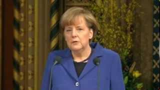 Angela Merkel Speaking English to British Parliament