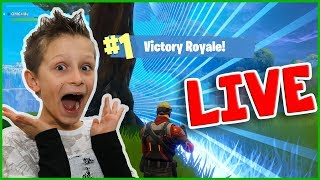 Victory Royale SOLO in Fortnite Live Stream
