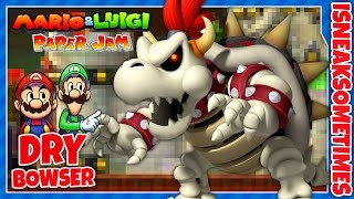 Mario & Luigi: Paper Jam - Dry Bowser Secret Boss Battle