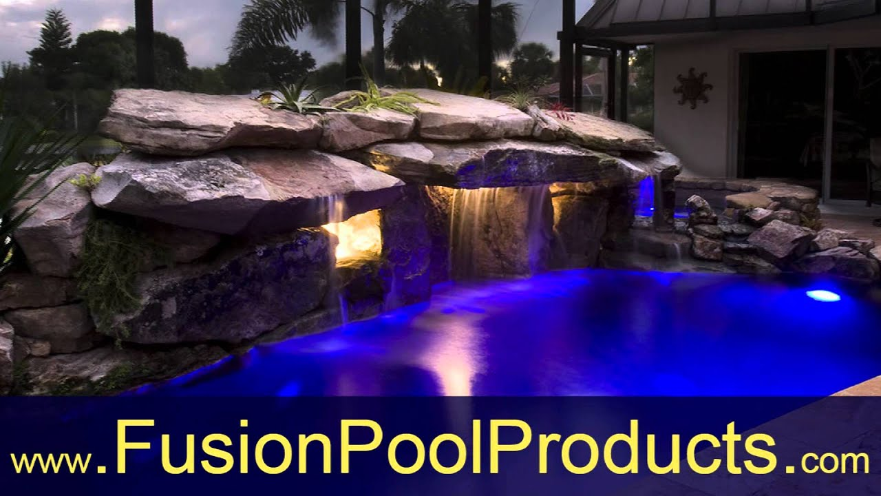 Led lighting for swimming pools water features ponds - Swimming pool fountains and lights ...