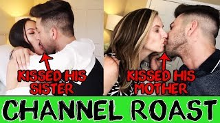 PrankInvasion - CHANNEL ROAST - KISSING MY ACTUAL MOM & SISTER PRANK!