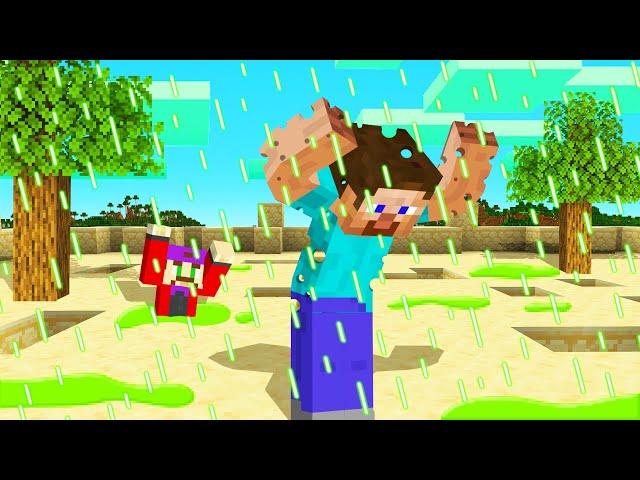 MINECRAFT But RAIN Is BURNING ACID! Dangerous
