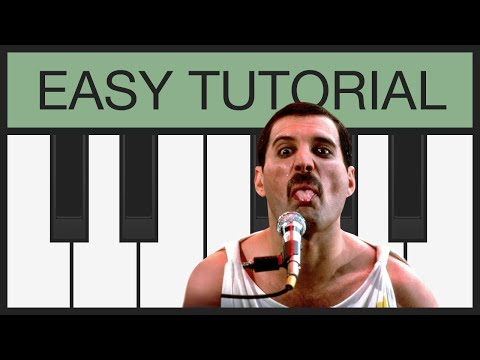 Bohemian Rhapsody (Queen) - Easy Piano Tutorial - Slow - Melody For Keyboard / Melodica