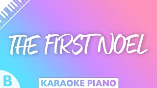 The First Noel Key Of B Piano Karaoke
