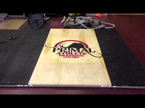 Homemade Olympic Lifting Platform with Logo | www.PrimalATC.com Image 1