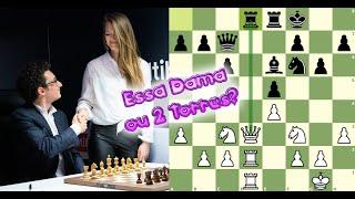 Essa Dama por duas Torres? O Caruana troca!    Caruana x Carlsen - Norway Chess 2019