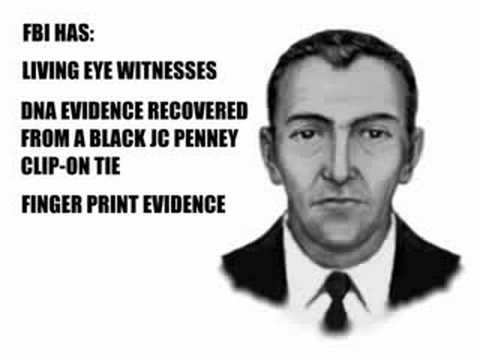 the d b cooper mystery The man who called himself db cooper showed a flight attendant a bomb in a suitcase, allowed passengers to leave, asked for $200,000 and parachutes, and when the plane took off again, jumped out.