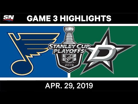 NHL Highlights | Blues Vs. Stars, Game 3 - April 29, 2019