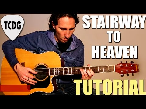 Como Tocar Stairway To Heaven En Guitarra Acústica (Led Zeppelin) Escalera Al Cielo Tutorial TCDG