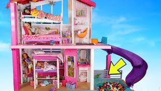 Barbie Sisters Day Morning Routine with Ball Pit! Dreamhouse Adventures Toys