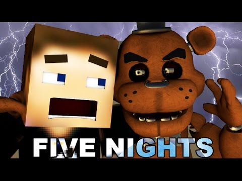 FIVE NIGHTS AT FREDDY'S In Minecraft (3D Minecraft Animation) - Night 1
