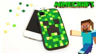 Funda Minecraft para movil o celular, manualidades minecraft DIY funda de creeper