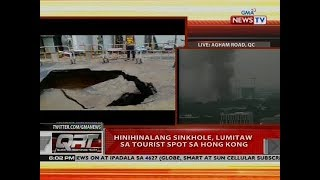 QRT: Hinihinalang sinkhole, lumitaw sa tourist spot sa Hong Kong