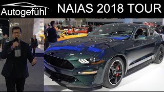 NAIAS Detroit Motor Show 2018 highlights REVIEW TOUR with Ford Mustang Bullitt - Autogefühl