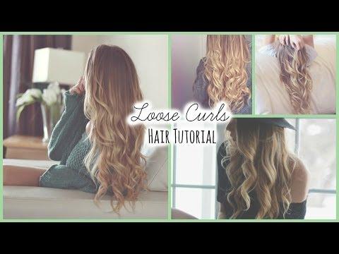 Loose Curls ♡ Hair Tutorial