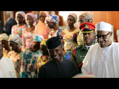82 Isis Released Chibok Girls Meet Nigeria's Buhari In Abuja