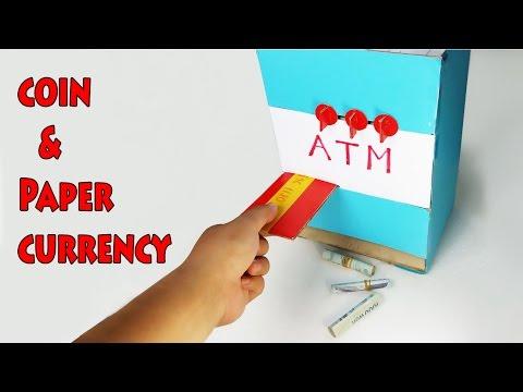 How to Make ATM Machine - Piggy Bank for kids - DIY