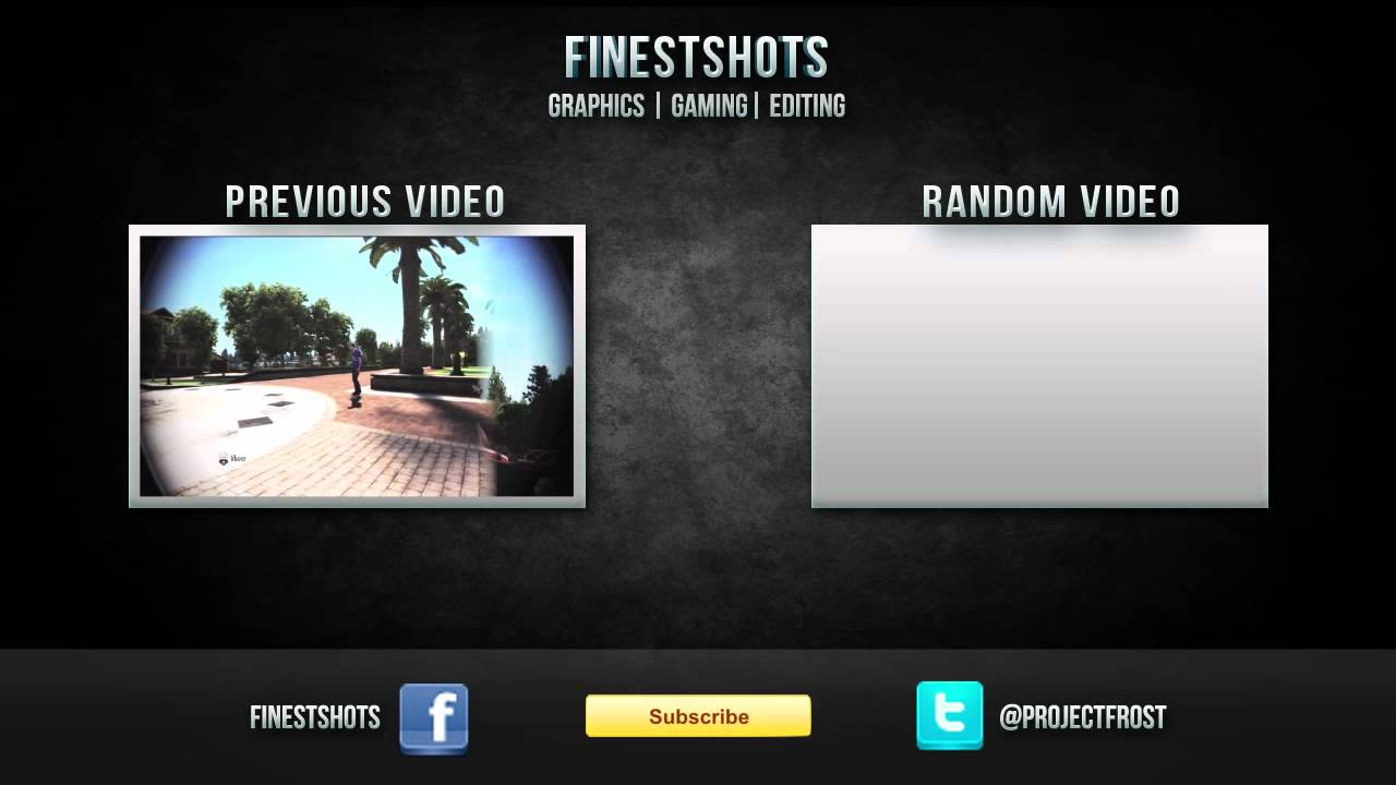 Youtube Video Outro Template (.psd file included) - YouTube
