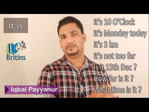 Time, Day, Date, Distance Etc. In English - Spoken English In Malayalam video