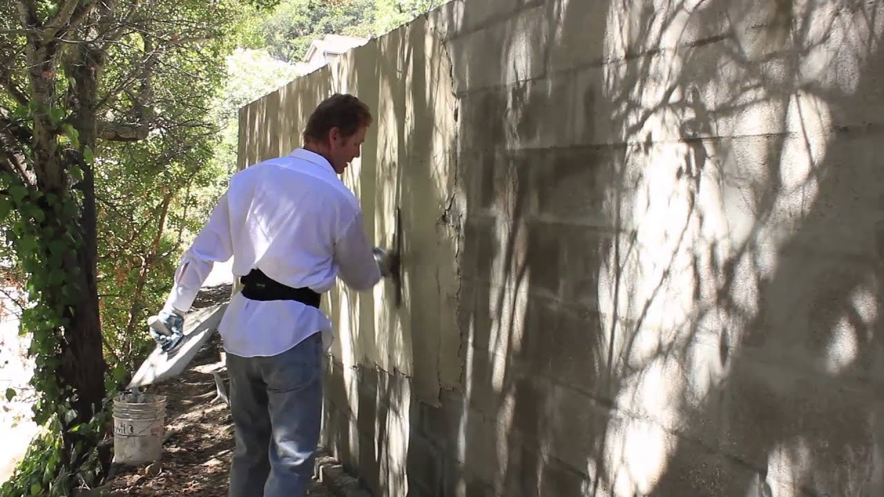 Plastering Cinder Block Walls Youtube