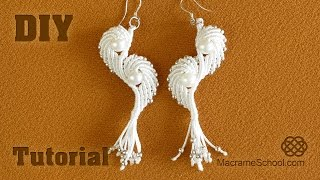 Macramé Angel Wings - Earrings Tutorial
