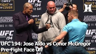 UFC 194: Champs Jose Aldo and Conor McGregor Face Off