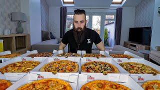 One Man Vs. EVERY Papa John's Pizza   BeardMeatsFood
