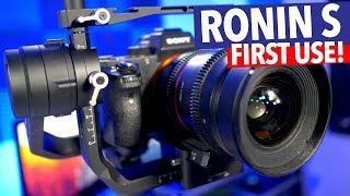 DJI RONIN S FIRST USE! REVIEW!