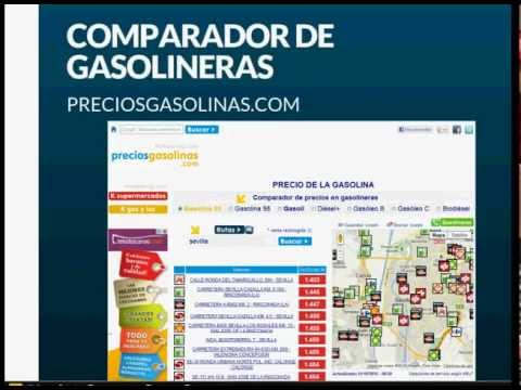Comparador de gasolineras, gas, luz y supermercados