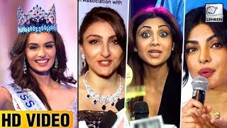 Bollywood Reacts On Manushi Chhillar WINNING Miss World 2017  | LehrenTV