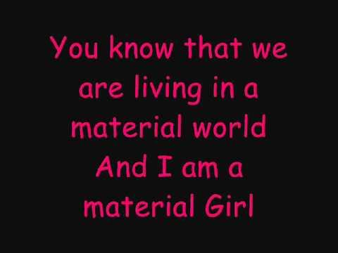 Hilary Duff Ft. Haylie Duff - Material Girl - Lyrics