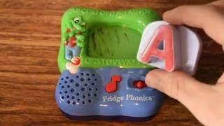LEAP FROG ABC's FRIDGE PHONICS LETTER A + ALPHABET SONG TALKING TOY