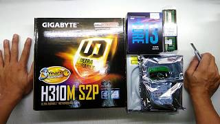 intel Core i3 8100 GIGABYTE H310M S2P Budget PC assemble