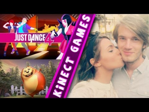 Kinect Games With Girlfriend - Just Dance 4   Kinect Adventures video