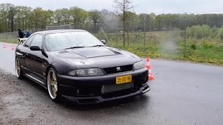 1020HP Nissan gt-r R33 skyline - LOUD TURBO SOUNDS