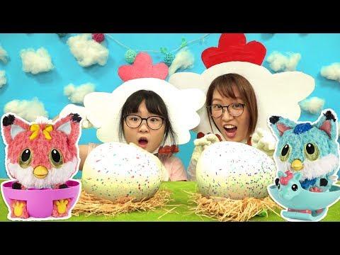 【玩劇】小母雞幫大母雞孵蛋,結果竟孵出了狐狸寶寶![NyoNyoTV妞妞TV玩具]