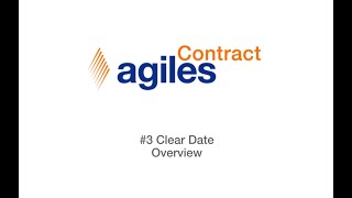 agilesContract - Clear Date Overview