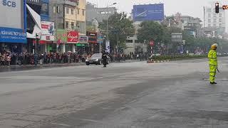 Đoàn xe của Chủ tịch Triều Tiên  Kim Jong-un đã về đến Hà Nội